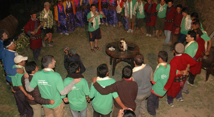 Tamang Cultural Rounding Dance in Ruby valley