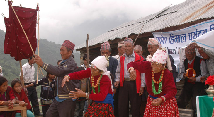 Gurung Cultural Dance in Ruby valley