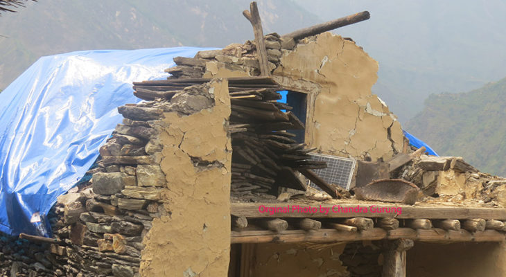 House in Chalish after earthquake