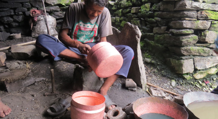 Making cooking pot in Ruby valley