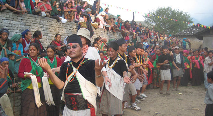Male Dance in Thabang Village Rolpa