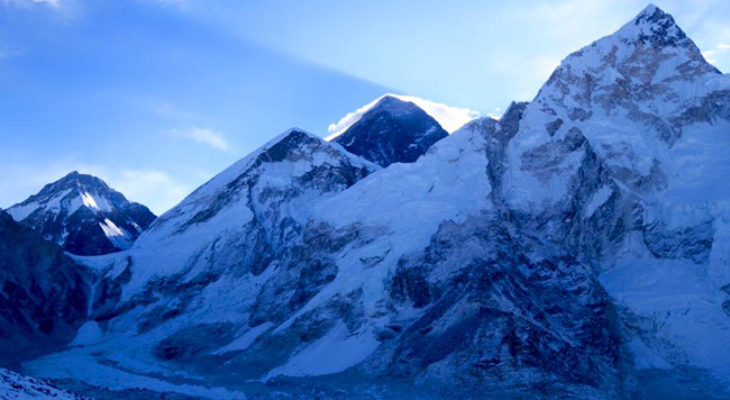 Mt. Everest picture in evening time