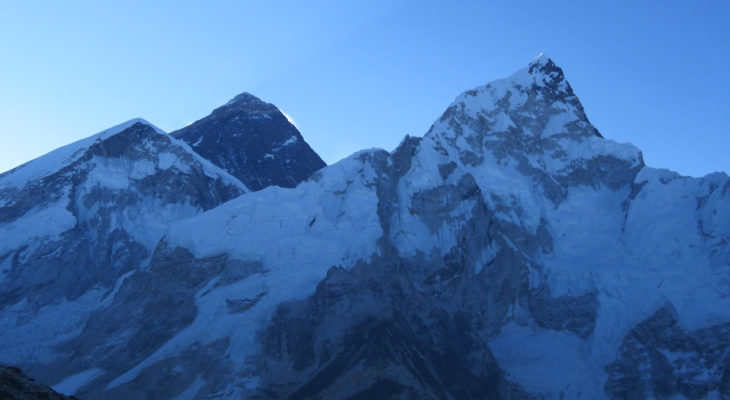 Mt. Everest in Evening time