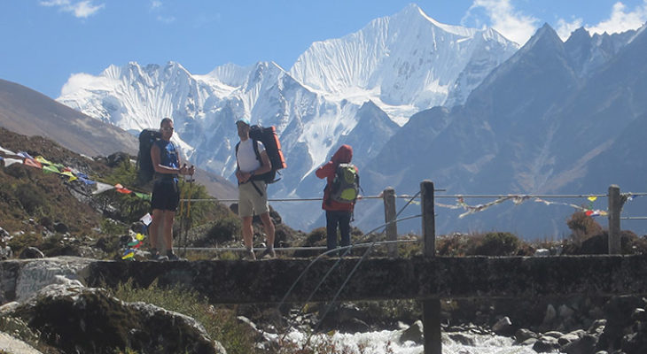 Picture in Langtang Valley with Trekkers