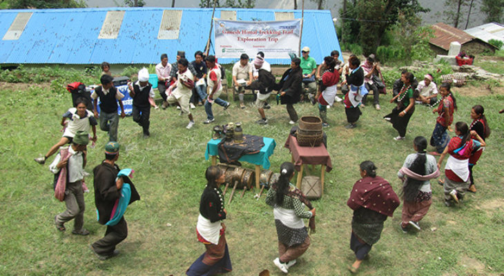 Tamang cultural dance in Ruby valley