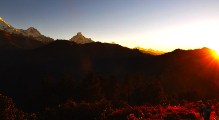 Sun rise from Poon Hill 3210M