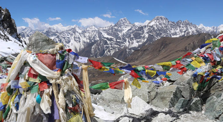 Top of Chola Pass 5368M in Everest region