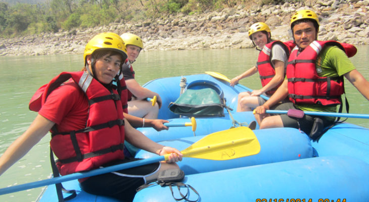 Group photo from rafting