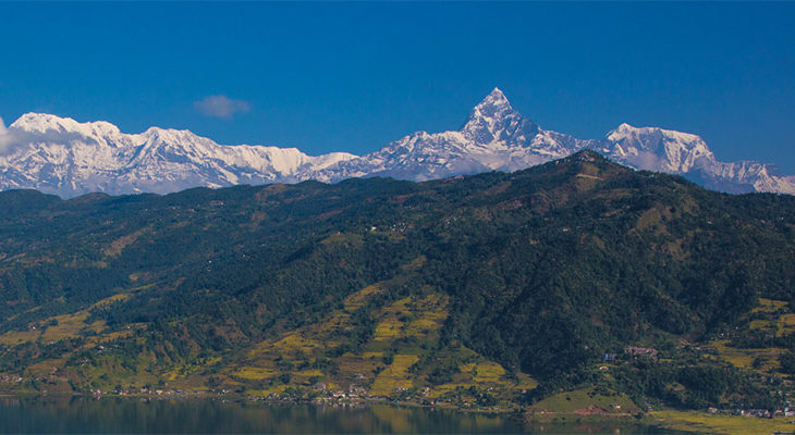 View of Machhapuchhre from Pokhara