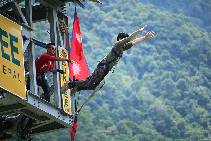Bungy Jump in Pokhara Nepal