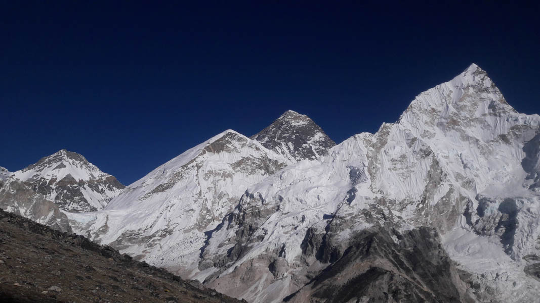 Mt.Everest View from Kalapathar 5555M.